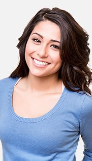 Young woman with straight healthy smile
